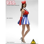 Clothing Set: Flirty Girl U.S.O Cosplay Clothing Set - Red (FG-2016-03)