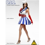 Clothing Set: Flirty Girl U.S.O Cosplay Clothing Set - White (FG-2016-02)
