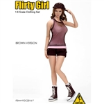 Clothing Set: Flirty Girl Combat Short Fashion Set - Brown (FG-2016-7)