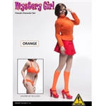 "Clothing Set: Flirty Girl ""MYSTERY GIRL"" Orange Skirt Set (FGC2017-13)"
