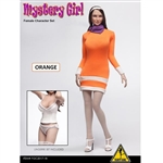 "Clothing Set: Flirty Girl ""MYSTERY GIRL"" Orange Dress Set (FGC2017-18)"