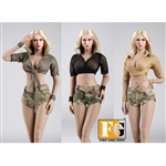 Uniform Set: Fire Girl Military Style Summer Outfit