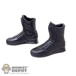 Boots: Fire Girl Black Female Molded Boots