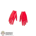 Hands: Flirty Girl Red Relaxed Gloved Hands