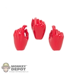 Hands: Flirty Girl Red Gloved Hand Set