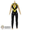 Uniform: Flirty Girl Black & Yellow PVC Body Suit