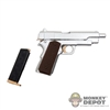 Pistol: Flirty Girl Silver & Gold Plated Pistol