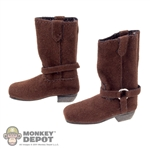 Boots: Flirty Girl Female Brown Suede Boots
