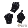Hands: Flagset Black Gloved Hand Set