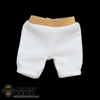 Shorts: Flagset White Padded Shorts