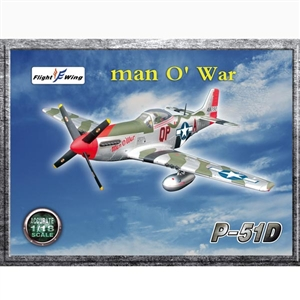 Flight Wing: 1/18 US WWII P-51D Man 'O War