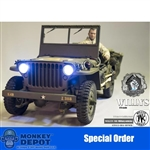 Boxed Vehicle: Go Truck 1/6 1/4 Ton Willy Jeep