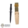 Knife: GWG Double Edged Fixed Blade w/Sheath