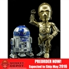 "Collectible Figure: Herocross 6"" C-3PO and R2-D2 - Hybrid Metal Figuration (902568)"