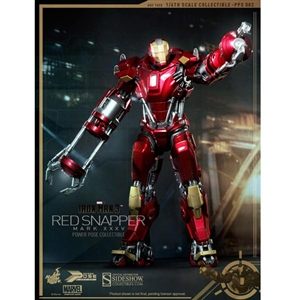 Boxed Figure: Hot Toys Iron Man Mark XXXV - Red Snapper Power Pose Series (902042)