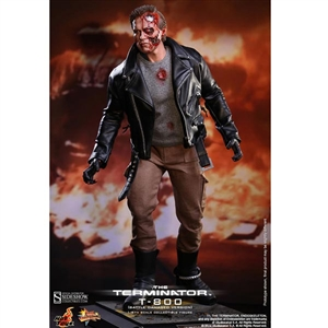 Boxed Figure: Hot Toys T-800 Battle Damaged Version (902179)