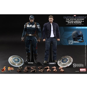 Boxed Figure: Hot Toys Captain America and Steve Rogers (902186)