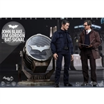 Boxed Figure: Hot Toys John Blake and Jim Gordon w/Bat-Signal (902303)