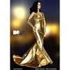 Clothing Set: Hot Plus Shimmering Evening Dress In Gold (HP-022)