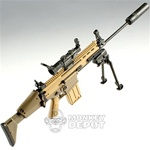 Rifle: Hot Toys SCAR H w/Bipod, Silencer