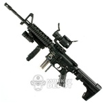 Rifle: Hot Toys M4A1 Black w/M93 Stock, Sim Mag, Aimpoint