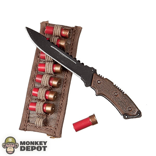 Toys For Knives : Monkey depot knife hot toys brown w shotgun shell sheath