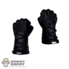 Hands: Hot Toys Gloved Fist Black (No Wrist pegs)