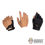 Hands: Hot Toys (2 Right, 1 Left) NO Wrist Pegs