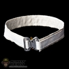 Belt: Hot Toys White w/Silver Buckle