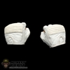 Hands: Hot Toys Storm Shadow Gloved Fist White (No Wrist Pegs)