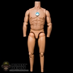 Figure: Hot Toys True Type Regular Body Caucasian w/LED (No Head, No Hands, No Feet)