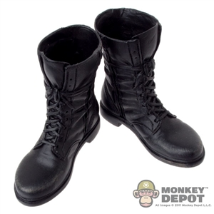 Boots: Hot Toys Modern Black Combat Boots
