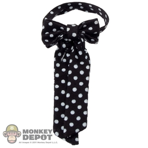 Tie: Hot Toys Black Tie w/White Polka Dot Pattern