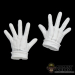 Hands: Hot Toys Joker Opened Gloved White Set (No Wrist Pegs)