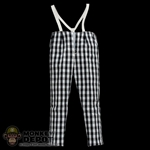 Pants: Hot Toys Black & White Checker Pants w/Suspenders