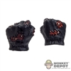 Hands: Hot Toys Gloved Black Battle Damage Fist