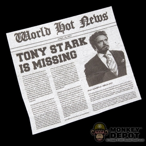 Tool: Hot Toys Newspaper Clipping