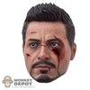 Head: Hot Toys Tony Stark Bloodied