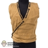 Vest: Hot Toys Light Brown w/Green Trim