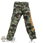 Pants: Hot Toys Camouflage Pants w/Golden Dragon Embroidery
