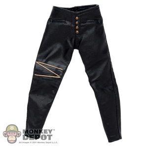 Pants: Hot Toys Black Leather Pants