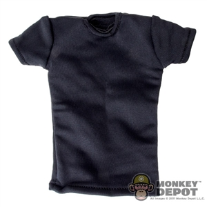 Shirt: Hot Toys Black Spandex Fabric T-Shirt