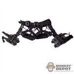 Belt: Hot Toys Black Tactical Harness w/Drop Down Holsters *READ NOTES