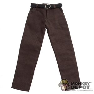 Pants: Hot Toys Brown Dress Pants w/Belt