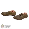 Shoes: Hot Toys Brown Dress Shoes