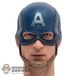 Head: Hot Toys Captain America Head w/Helmet