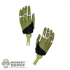 Hands: Hot Toys Gamora Relaxed Hands w/Wrist Pegs