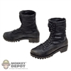 Boots: Hot Toys Molded Black Boots (No ankle pegs)