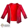 Coat: Hot Toys Scarlett Witch Red Leather Jacket