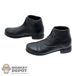 Boots: Hot Toys Black Molded Shoes